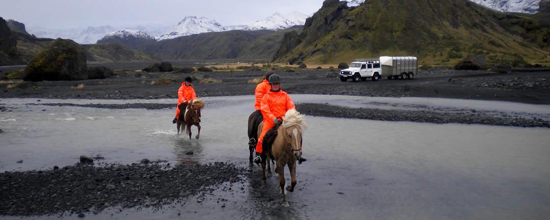 Rider i naturreservatet Thorsmörk