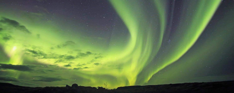 Ridresa med fantastiskt vackert norrsken på Island