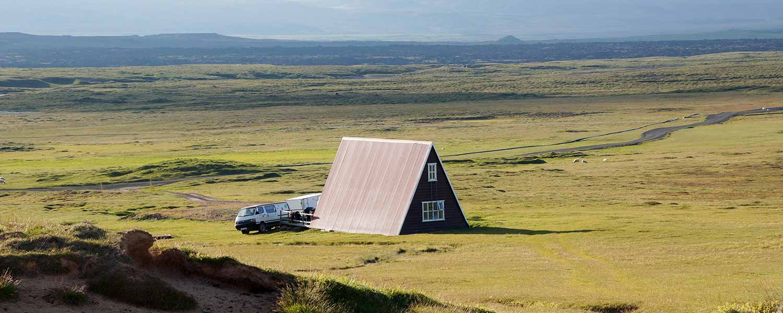 Fjällstugan Þeistareykir på norra Island