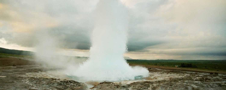 Ridpaus vid vacker gnejs på Island