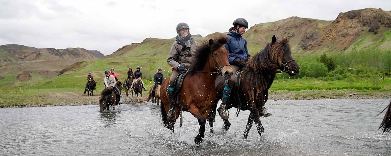 Ridresa till Hveragerdi på Island