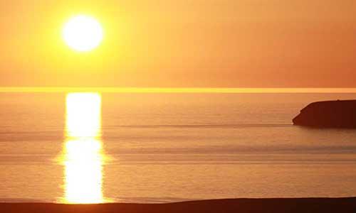 Solnedgång på Island