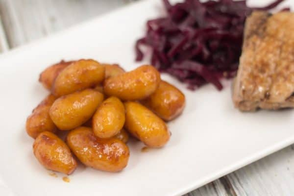 Smör och sockerglaserade potatisar